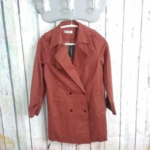 Double Breasted Snap button Short Trench Coat